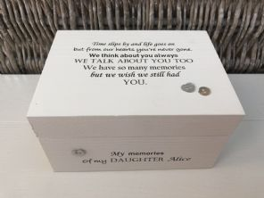 Personalised In Memory Of Box Loved One ~ DAUGHTER ~ any Name Bereavement Loss - 232738829004